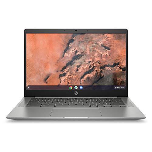 HP Chromebook 14a-na0214ng (14 Zoll / HD) Laptop (Intel Celeron N4020, 4GB LPDDR4 RAM, 64GB eMMC, Intel UHD Grafik, Chrome OS, QWERTZ-Layout) silber
