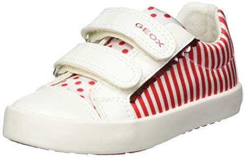 Geox Baby Mädchen B Kilwi Girl A Sneaker, Rot (White/Red C0050), 27 EU