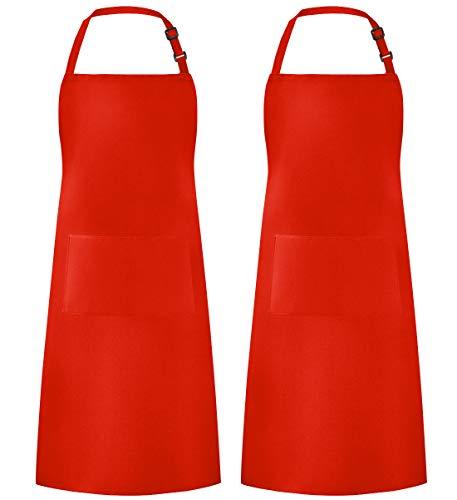 delantal cocina rojo fabricante Syntus