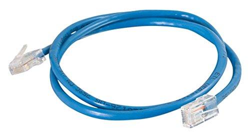 CATE 0,5 m-cavo niet afgeschermd (UTP), kabel netwerkkabel patch, kleur: zwart 1m Blu - blu