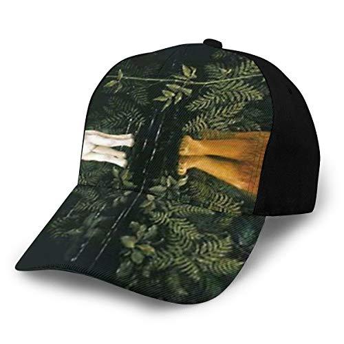 Unisex 100% poliéster El león y el cordero sombrero de malla, gorra de malla de secado rápido para unisex negro