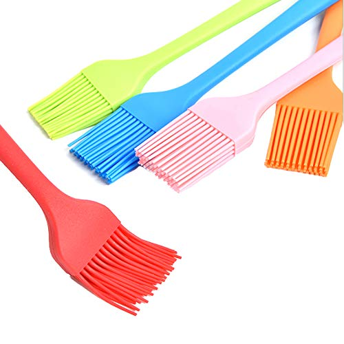 RUIYELE Juego de 5 brochas de cocina para repostería, cepillo de silicona para parrilla, cepillo de cocina y cepillo para asar para cocinar, hornear, barbacoas