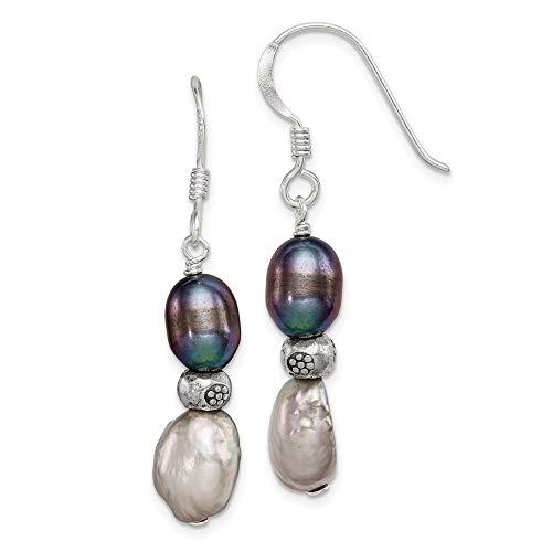 silver spoon handle earrings - 8
