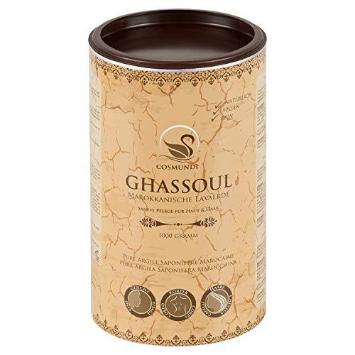 cosmundi Ghassoul Marokkanische Lavaerde Pulver 1 kg Mineralische Tonerde für Haarwäsche...