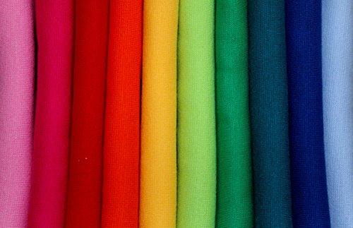 Stoff'l - FEINES FÜR KINDER Bündchenpaket Regenbogen * 10 Farben Schlauchware * Starter
