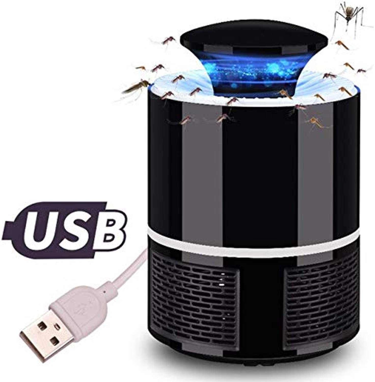 Shoppy Star USB Photocatalyst Mosquito Killer lamp Anti Mosquito Repellent Bug Insect Light Electronic Pest Control UV Light Killing Lamp  Black Mosquito lamp, France