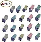 20 pc Automotive MCASE Mini Box Shaped Cartridge Fuse Kit for Cars, Trucks, and...