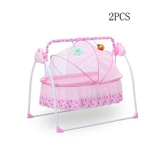 MOMOJA Automatische Babyschaukel Elektrische Baby Wiege Safe Babywippe für 0-36 Monate mit Schaukelfunktion,...