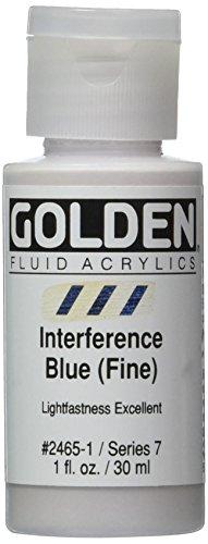 Pro-Art-Bilderpalette Doré Fluide Peinture Acrylique 1 oz Bleu -Interference Fine