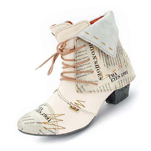 TMA Damen Stiefeletten, Creme-Weiß, 6106.2-40