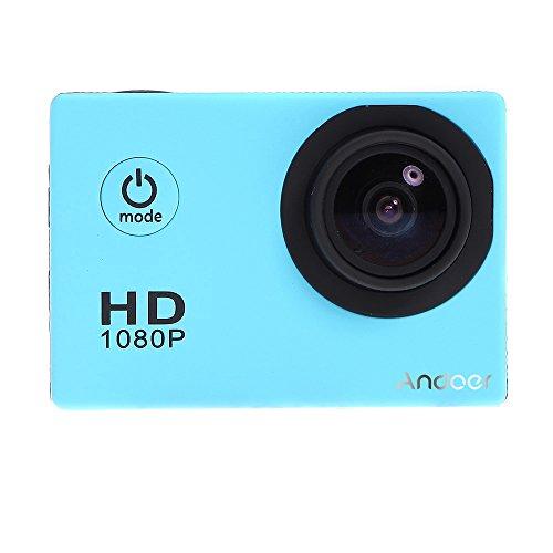 Andoer Mini DV Sport Videocamera Impermeabile della Macchina Fotografica Camcorder HD 1080P 12MP 30M Telecamera Portatile dell'automobile DVR Bike Helmet Outdoor(Blu)