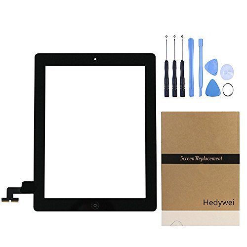 Hedywei For Apple iPad 2 Touch Screen Digitizer Glass Replacement w/Home Button (Black)