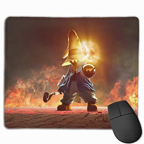 Final Fantasy IX-Vivi(Black Mage) Non-Slip Mouse Pad Rectangle Rubber Anime Mouse Pad Gaming Mouse Pad 12x9.8 Inch(30x25 cm)