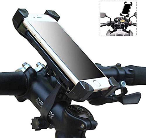 Bike Motorbike Teléfono Teléfono Bicicleta Antideslizante para teléfonos Inteligentes de 3,5 a 7'Compatible con Bicicletas de montaña de Carreteras y también Motos Scooters Bike Tie (Color: Negro) XI