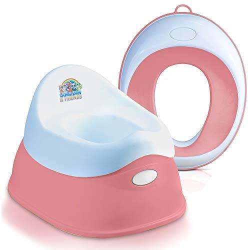 Lama Sam & Friends - Set Toilettentraining-Sitz für Kinder - Klobrille und Töpfchen für Jungen und Mädchen - sichere rutschfeste Oberfläche in Farbe