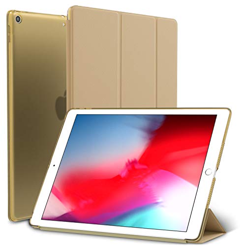 ROARTZ iPad Mini 5 Case, Gold Slim-Fit Smart Rubber Folio Hard Translucent Frosted Cover Light-Weight Wake Sleep for Apple iPad Mini 5th Generation 2019 Model A2133 A2124 A2126 7.9-inch Display -  19B03