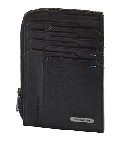 Spectrolite SLG - All-In-One Wallet with Zip Around Tarjetero, 13 cm, 0 Liters, Negro (Black/Night Blue)