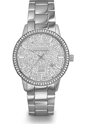 JETTE Damen-Uhren Analog Quarz One Size Silber Edelstahl 32001876