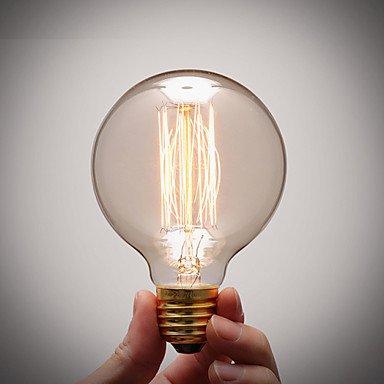 HZZymj-culot de la lampe de cuivre pur rétro ampoule à filament vintage artistique e27 incandescence industrielle ampoule 40W , 220-240v