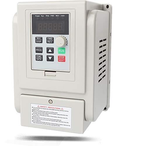 Variador de frecuencia, CA 220V 1.5KW Variador de frecuencia Variador VFD Controlador de velocidad para motor trifásico, variador de velocidad