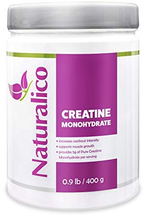 Naturalico 5g Micronized Pure Creatine Monohydrate | USA Made | GMO Free | Fast Absorbable | Powder for Maximum Strength and Improved Muscle Performance | 80 Servings for 80 Days