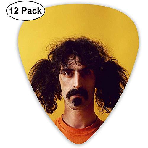 Sherly Yard Frank Zappa Classic Cool Medium Picks per chitarra acustica, mandolino e basso (ABS, confezione da 12, 3 specifiche)