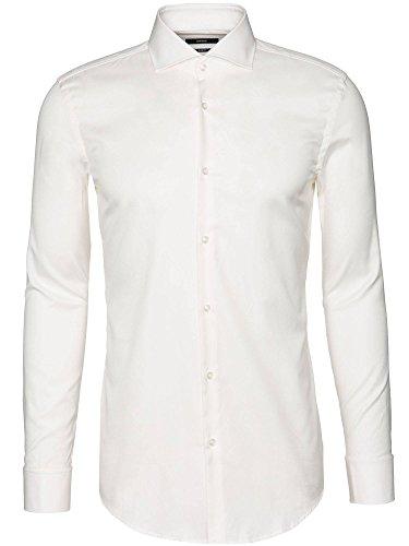 BOSS Camisa de algodón para hombre Jaiden Slim Fit con puños de vuelta. Natural (101) 43
