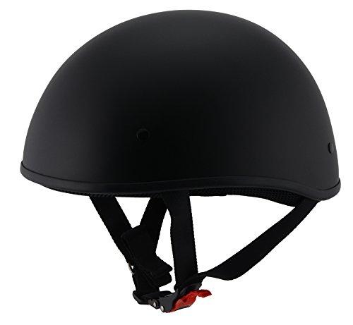 Milwaukee Performance Helmets Unisex-Adult Half Bare Bones Helmet (Matte Black, Medium)