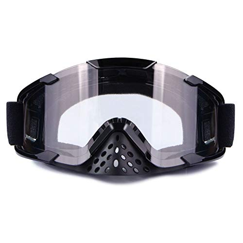 Motorcycle Goggles Dirt Bike Anti Fog UV ATV Riding Off Road Motocross Goggles (Transparent)