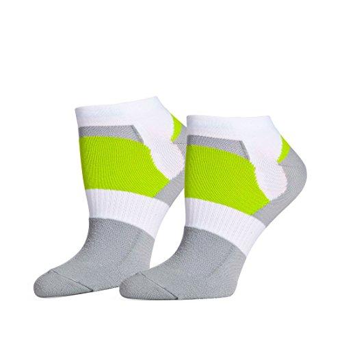 Safersox Odor Control Fahrradsocken/Radsocken - Für tagelanges Tragen ohne Waschen (43-46, grün/grau/weiß)