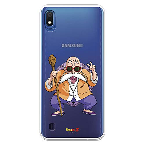 Funda para Samsung Galaxy A10 Oficial de Dragon Ball Maestro Mutenroshi para Proteger tu móvil. Carcasa para Samsung de Silicona Flexible con Licencia Oficial de Dragon Ball.