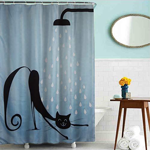 empty douchegordijn, scheidingswand, waterdicht, voor badkamer, douchegordijn, van polyester, bestand tegen vocht