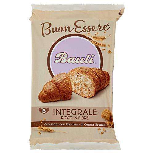 Bauli Croissant Integrale con Zucchero di Canna Grezzo, Confezione da 6 x 40g