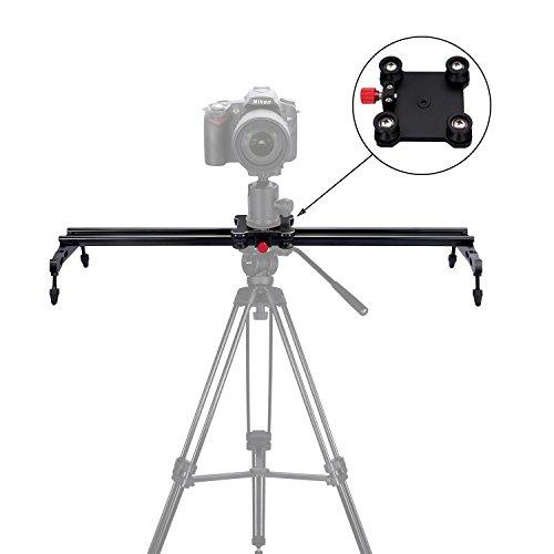 "pangshi 24"" Camera Slider Dolly Track Glider System with Roller Bearing for DSLR Video Camera"