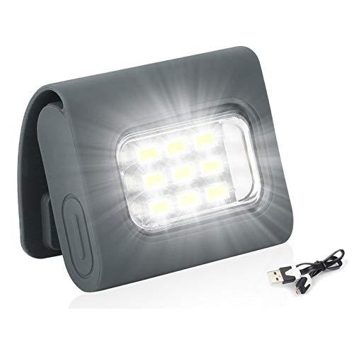 USB充電式 ランニング ライト セーフティ クリップ LEDライト 軽量小型 150ルーメン 強力な磁気セーフティ クリップ 明るい 5時間点灯