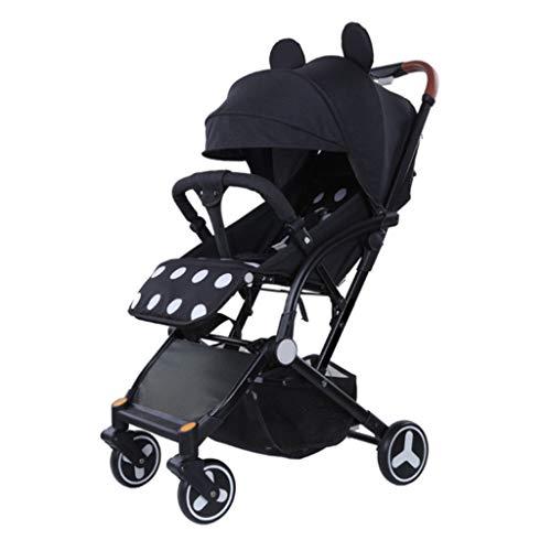 Poussettes légère pour bébé, Pliante d'une Main, Dossier réglable Multifonctions, Pare-Soleil réglable, Panier Grande capacité, avec Frein