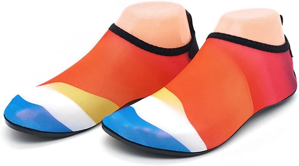 Dorakitten Aqua Socks Non-Slip Slip-on Flexible Reusable Portable Ergonomic Breathable Water Sports Shoes Beach Swim Shoes