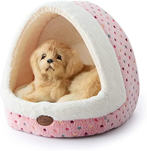 Tofern Cuccia Igloo Domestici Morbido Caldo Lavabile per Gatto Cane Taglia Piccolo Medio Inverno (Rosa)…