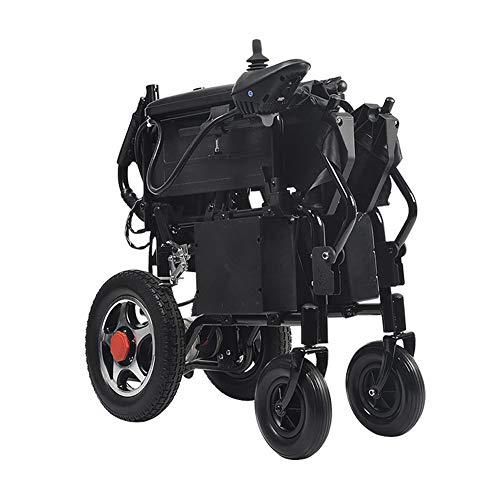 Wangxn Opvouwbare elektrische rolstoel, 12 Ah, met afneembare voetsteunen, draagbare rolstoel voor gehandicapten, ouderen