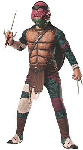 Teenage Mutant - Hero Ninja Turtles Raphael Kinder Kostüm - Größe S 110-122cm
