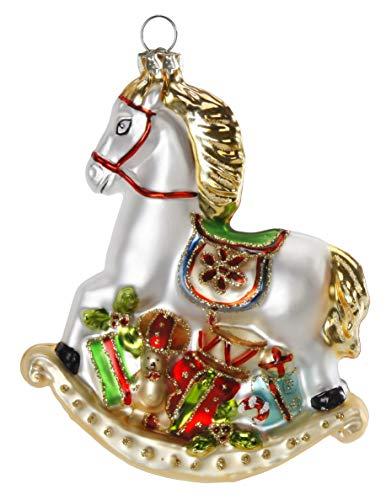 Inge-glas Christbaumschmuck Weihnachtskugeln Figuren (Schaukelpferd 11cm)
