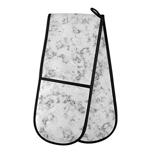 TropicalLife JinDoDo - Guantes dobles para horno (mármol), color blanco