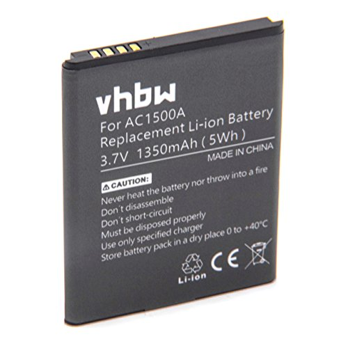 vhbw Akku passend für Archos 40 Titanium Handy Smartphone Handy (1350mAh, 3.7V, Li-Ion)