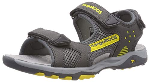 KangaROOS K-Celtic Sandals Child Grey/Yellow - 2.5 - Sandals Shoes
