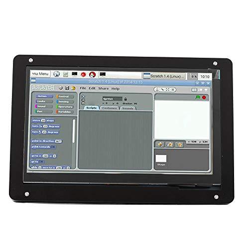 Evonecy Plus Screen Case, Shell Case Screen, 1024 * 600 IPS Touch Black in(Metal Bracket Shell)