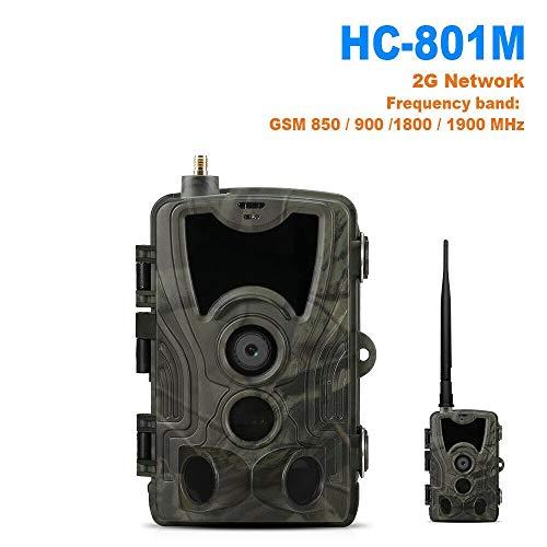 WANGMEILING Jagdkamera wildkamera Jagd-Kamera-Hinterkamera SMS/MMS/SMTP 2G 16MP 1080P HC-801M Foto Traps 0.3s Trigger-Time Trap Wildlife