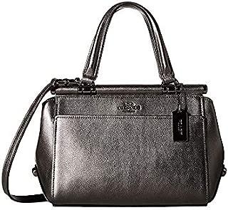 COACH Womens Grace 20 Bag in Metallic Leather