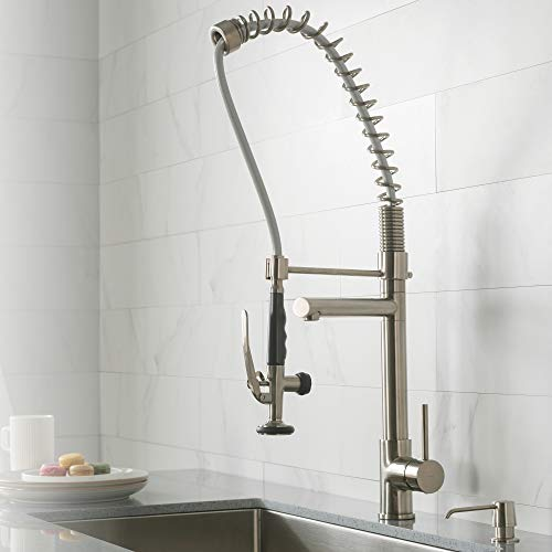 Kraus KPF-1602SS Single Handle Pull Down Kitchen Faucet...
