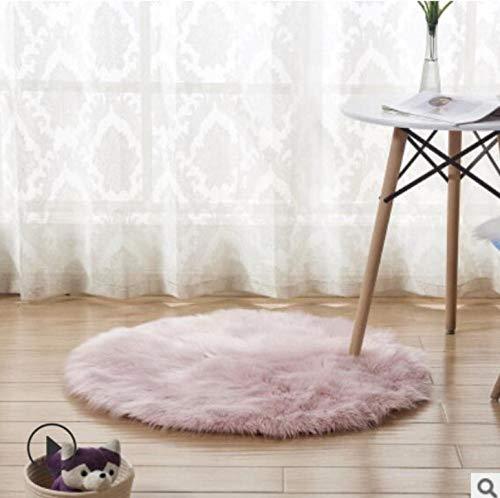 Gexingshangdian Tapijt New Soft Faux voor Wool bankovertrek van pluche matrasbeschermer Xmas deur raam tapijt Rotondi tapijten