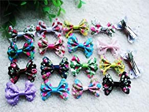 BeesClover Hot 100pcs Mix Various Styles Dog Topknot Bows pet Hair Clips Nice Butterfly Dog Hair Accessories pet Grooming Product Mix Color Butterfly